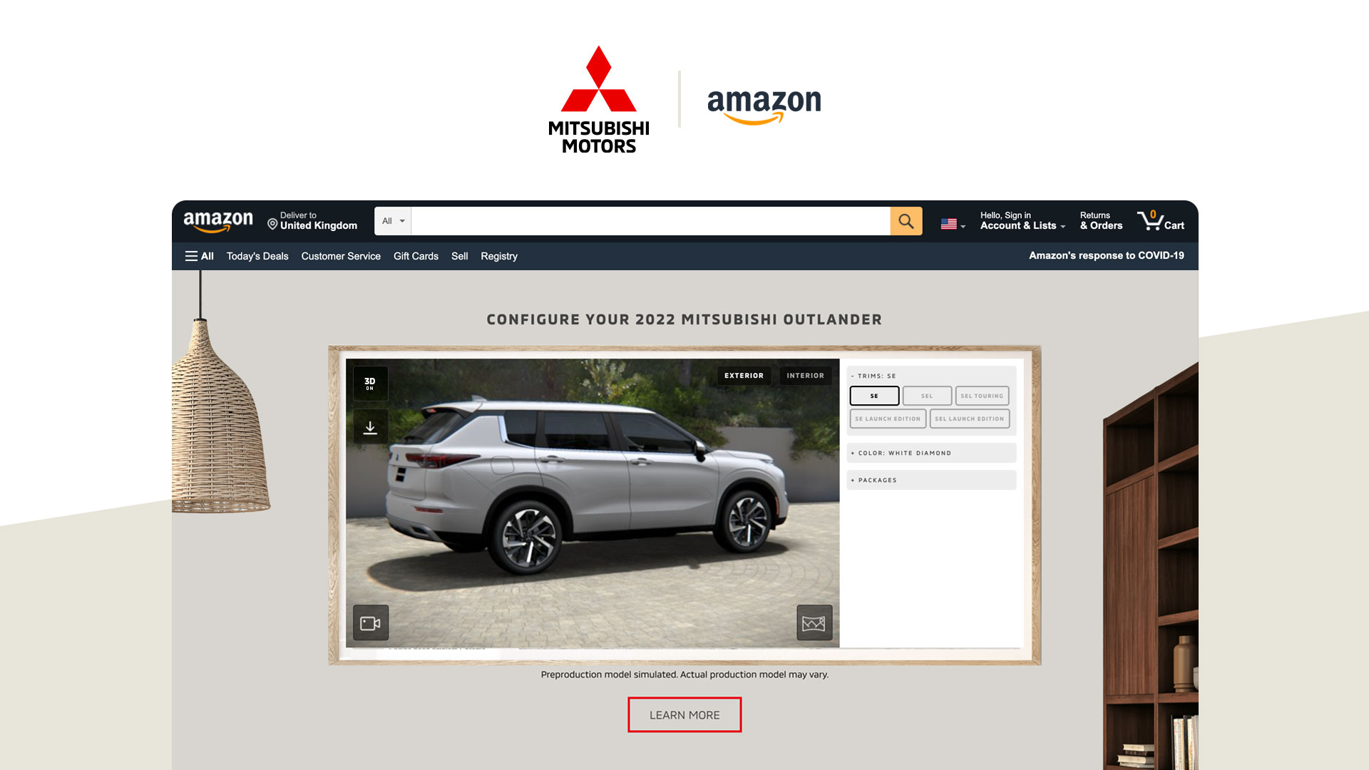 Zerolight partnership enables car launches through Amazon Live